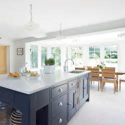 kitchen dining island modern kitchen diner with grey island housetohome co uk