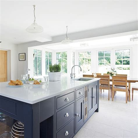 kitchen dining modern kitchen diner with grey island housetohome co uk