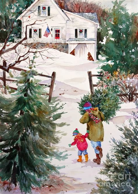 Bringing Home by Bringing Home The Tree Painting By Sherri Crabtree