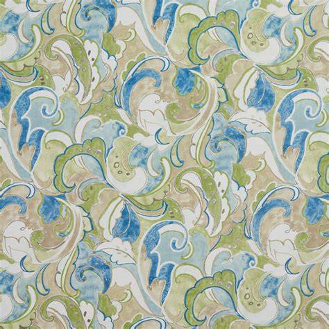 blue green upholstery fabric b061 blue green and beige abstract outdoor indoor