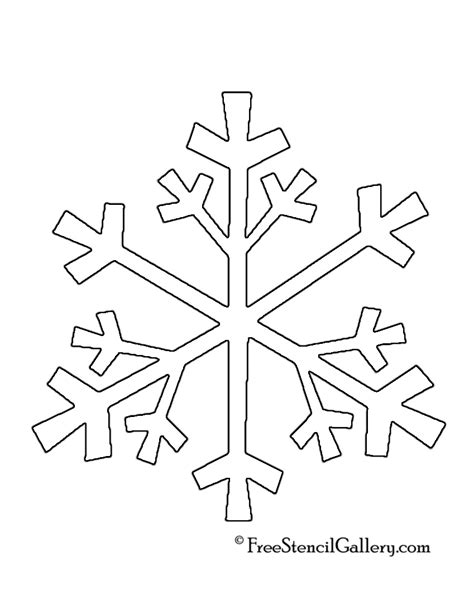 printable snowflakes stencils images