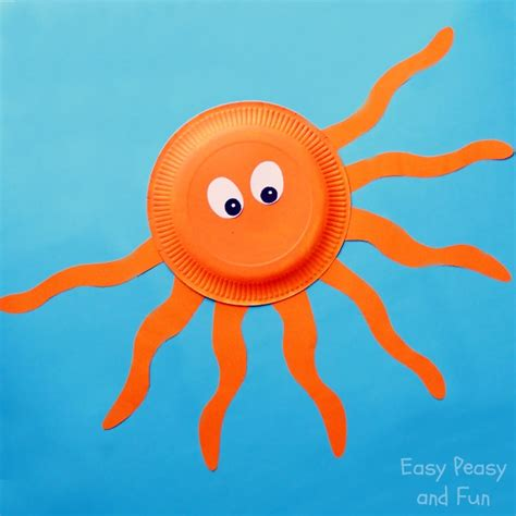 Paper Octopus Craft - octopus paper plate craft easy peasy and