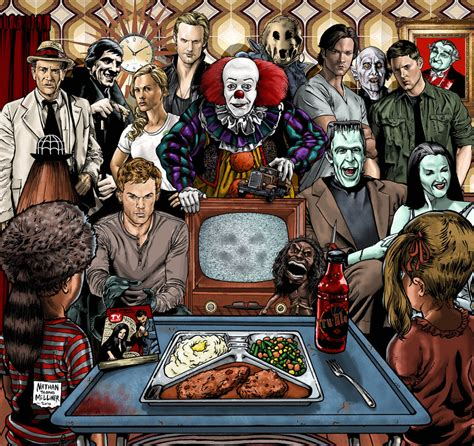 the movie art of tv horror one by malevolentnate on