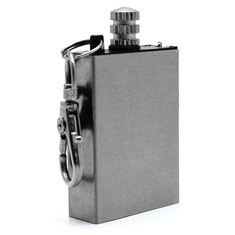 Jual Outdoor Waterproof Kerosene Lighter Silver metal match permanent starter lighter silver free shipping dealextreme