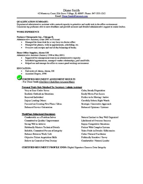 Resume Objective Assistant executive administrative assistant resume objective free