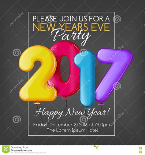 Merry And Happy New Year Template by Merry And Happy New Year 2017 Invitation