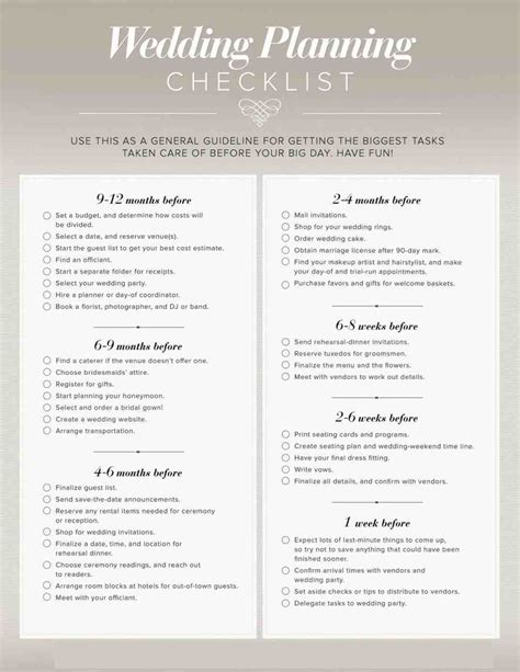 Wedding Reception Checklist Pdf by Wedding Planning Checklist Pdf Siudy Net