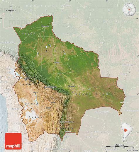 map of bolivia satellite map of bolivia lighten