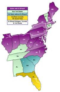 Ez Pass States Map by Nc Quick Pass