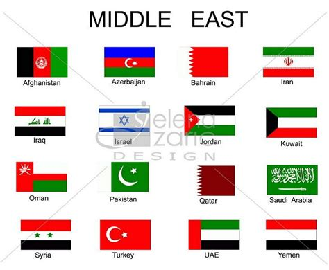 middle east map flag middle east flags geography of the middle east