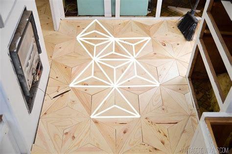 geometric pattern diy the nugget diy geometric wood flooring for 80 vintage