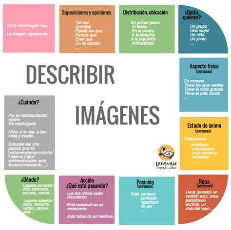 descripcion de imagenes en ingles ejemplos descripci 243 n de im 225 genes dele lenguaje y otras luces