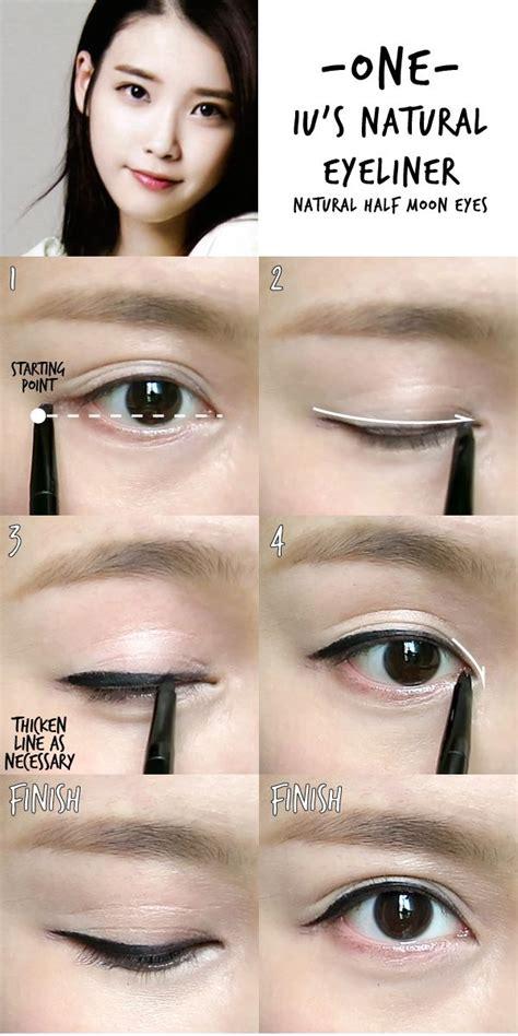 tutorial makeup iu 6 k pop inspired korean style eyeliners tutorial