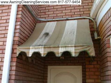 cleaning canvas awnings awning cleaning before after photos 2 dallas fort worth