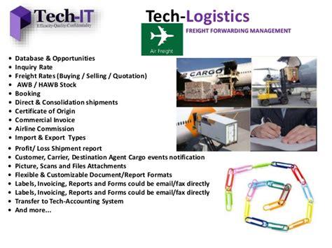 tech logistics tech it freight forwarding management