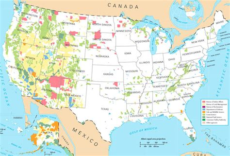 map of federally owned land in usa federal land in the united states