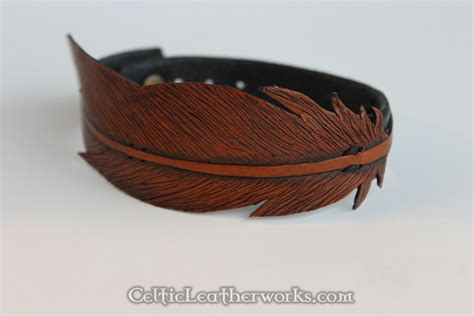 Feather Bracelet the leather feather bracelet faith