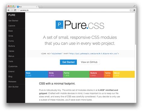 yahoo pure layout the 5 most popular frontend frameworks of 2014 compared