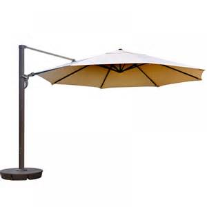 13 Ft Patio Umbrella 13 Ft Octagon Cantilever In Beige Sunbrella Acrylic Patio Umbrellas Patio Umbrellas