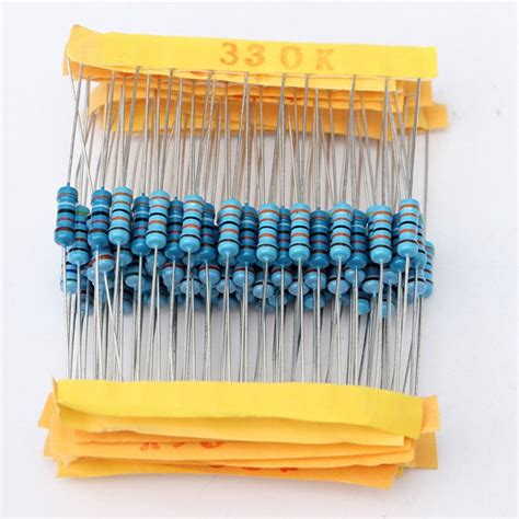 resistor kit south africa electronic components 1100 pcs 0 1 ohm 10m ohm 1 2w metal resistor 110 value box kit was