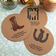 Drink Coasters   Round Kraft Paper Custom   Wedding Coasters
