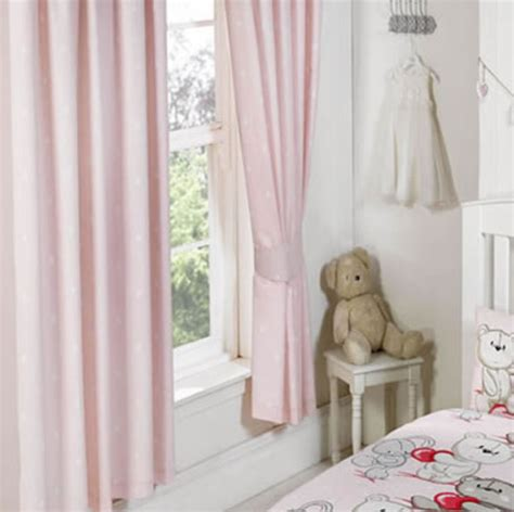 Pink And White Spotty Curtains Best Friends Beautiful Bear Pink Curtains For Baby Nursery