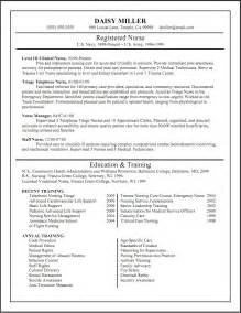 Free Sle Resume by Resume Exles For Nursing Resume Format Pdf
