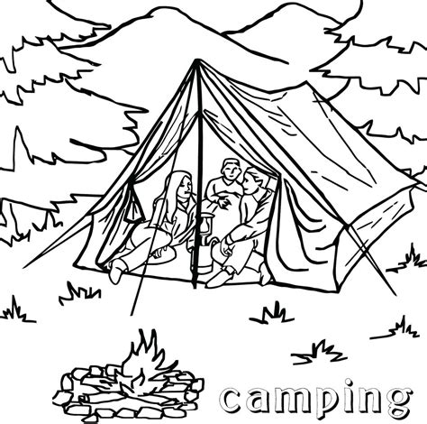 tent coloring page cing coloring pages best coloring pages for