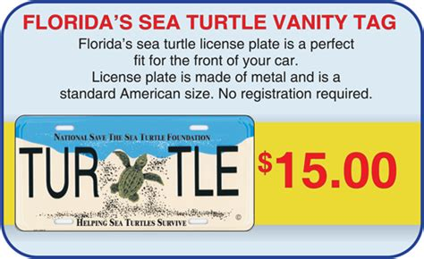 Florida Vanity Plate Availability sea turtles gift turtle store