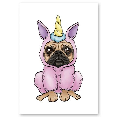 cool drawings of pugs unicorn pug print by beatriz cote se 241 or cool