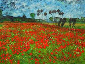 36 Inch Vase Field Of Poppies By Vincent Van Gogh For Sale Jacky