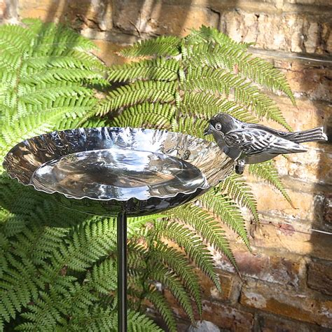 stainless steel birdbath garden sculpture by london garden