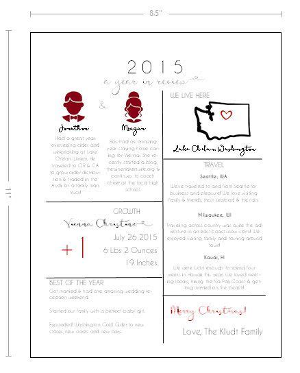 A Year In Review Christmas Letter Template 2015 By Thewinemakerswife Meagan Kludt The Year In Review Letter Template Free