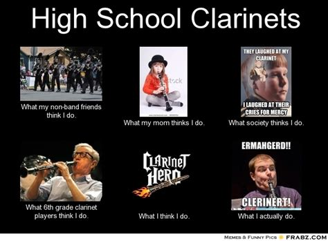Clarinet Meme - clarinet band kid meme