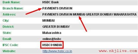 what is the meaning of ifsc code in bank pay hsbc credit cards bill
