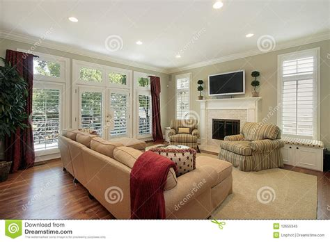 pictures of small family rooms family room with brick fireplace royalty free stock photo image 12655345
