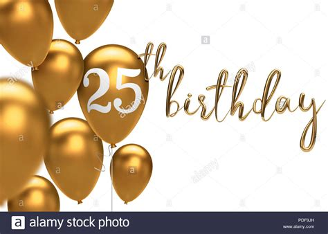 Gold Happy Th  Ee  Birthday Ee   Balloon Greeting Background D