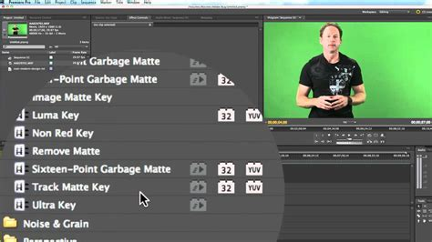adobe premiere pro green screen adobe premiere pro cs 5 5 green screen tutorial on mac osx