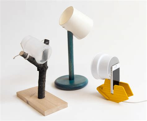 Table With Lamp Built In by Ready Made Smartphone Charging Dock Lamps By Raw Edges Studio
