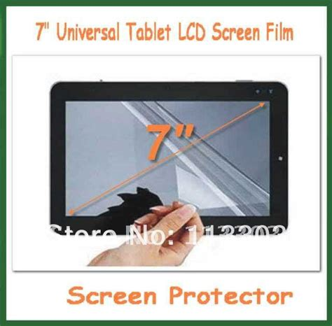 Sarung Universal Jepit Size 7 Inchi 100pcs 7 inch universal lcd screen protector protective size 155x92mm for mid tablet pc gps