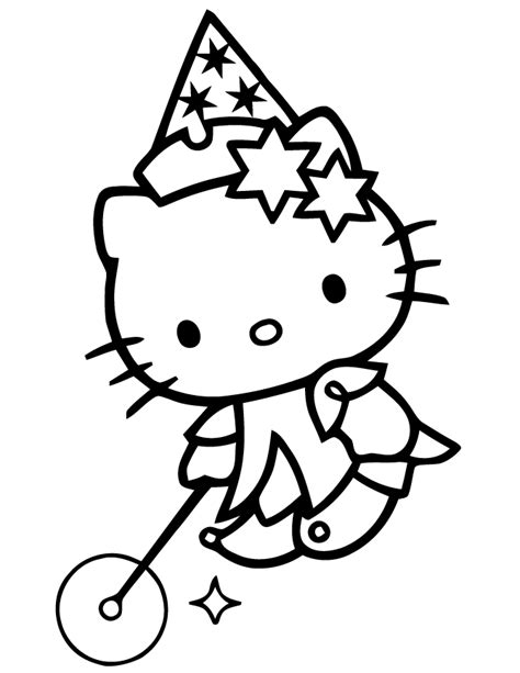 Hello Kitty Magician Coloring Page H M Coloring Pages Magician Coloring Pages Printable