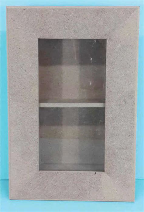 small box frame with glass 2 divisions 190 x 55 x 290mm