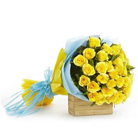 First Home Housewarming Gift by Yellow Rose Flower Bouquet Buy Gifts Online