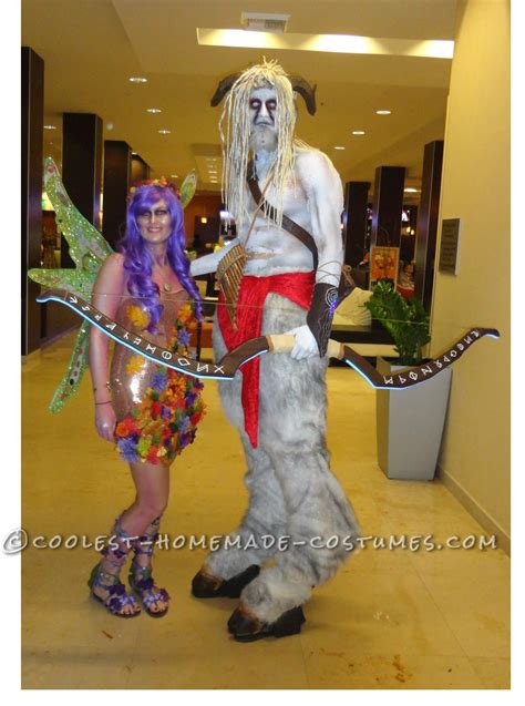 coolest homemade satyr goatman  nymph costumes