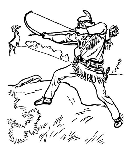 indian coloring pages hunting coloringstar
