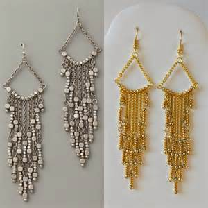 diy chandelier earrings diy gold chandelier earrings my girlish whims