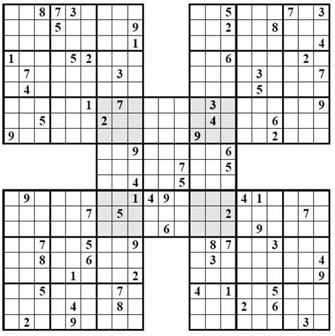 sudoku samurai para imprimir nivel difcil juego sudoku sudoku samurai dificil para imprimir