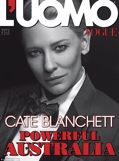 L Covers by Cate Blanchett Smoulders In Menswear With Hair On The Cover Of L Uomo Vogue Daily Mail