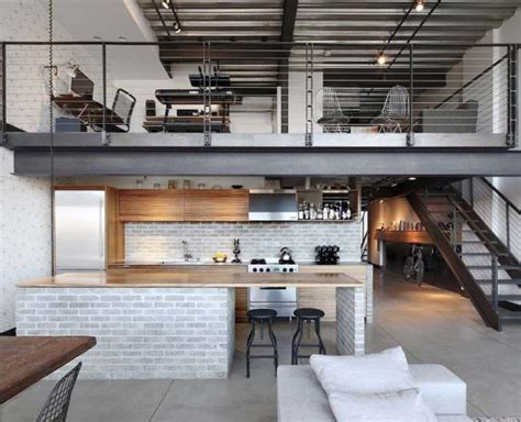 urban loft plans stylish living urban loft interior home decor