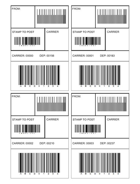 create custom logo barcode label template